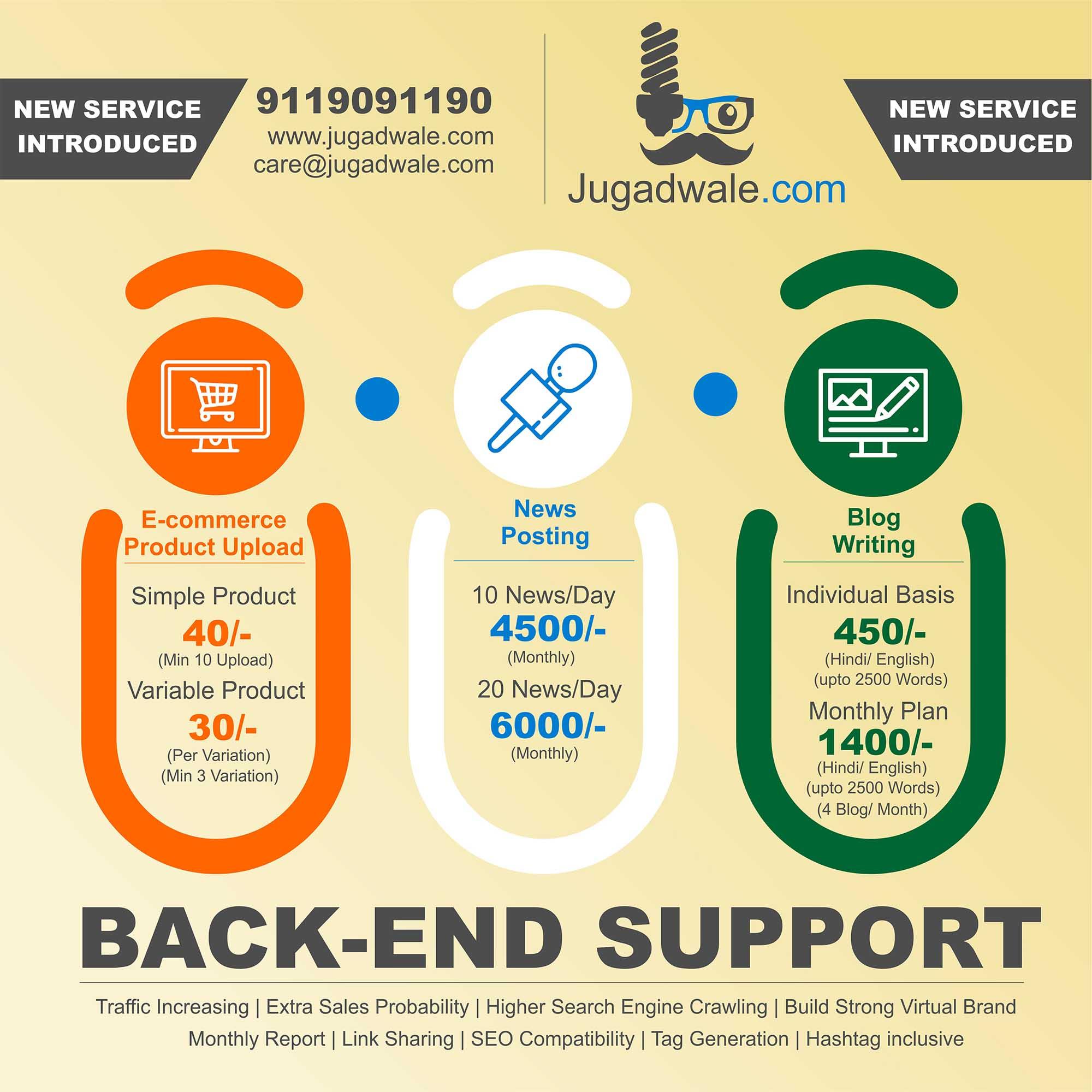 jugadwale back end support